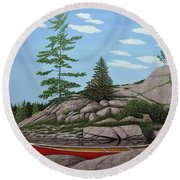 Among The Rocks II Round Beach Towel