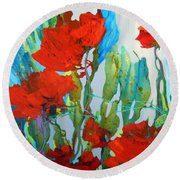 Among The Roses Round Beach Towel