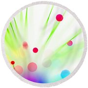 Among The Wildflowers Round Beach Towel