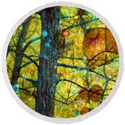 Amongst The Branches Round Beach Towel
