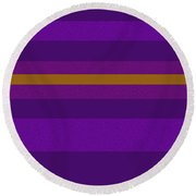 Amore Purple Round Beach Towel