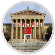 Amore - The Philadelphia Museum Of Art Round Beach Towel