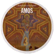 Amos Books Of The Bible Series Old Testament Minimal Poster Art Number 30 Round Beach Towel