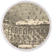 Amphitheater Of Verona Round Beach Towel
