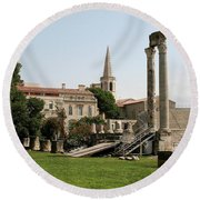 Amphitheater Ruins - Arles - France Round Beach Towel