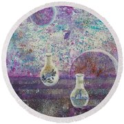 Amphora-through The Looking Glass Round Beach Towel