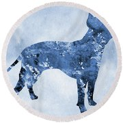 Amstaff-blue Round Beach Towel