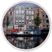 Amsterdam Canal Round Beach Towel