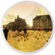 Amsterdam City Round Beach Towel