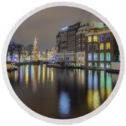 Amsterdam Colors Round Beach Towel