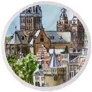 Amsterdam Holland Round Beach Towel