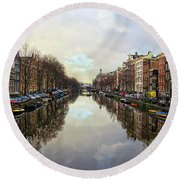 Amsterdam Reflected Round Beach Towel
