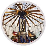 Amusement Park Round Beach Towel