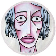 amy Round Beach Towel by Thomas Valentine