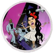 Amy Whinearse Round Beach Towel