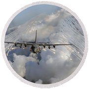 An Ac-130u Gunship Jettisons Flares Round Beach Towel