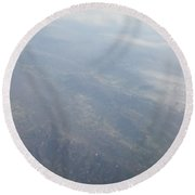 An Aerial View Of Ohio Round Beach Towel