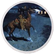 An Arguement With The Town Marshall 1907 Round Beach Towel