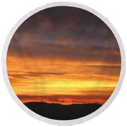 An Astounding Sky Round Beach Towel