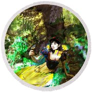An Enchanted Moment Round Beach Towel