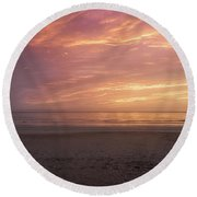 An Enchanted Morning Round Beach Towel