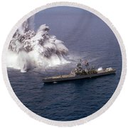 An Explosive Charge Is Detonated Round Beach Towel by Stocktrek Images