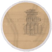An Interesting Romanesque Treatment, San Giovanni, Pistoia Round Beach Towel