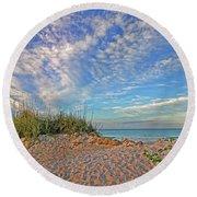 An Invitation - Florida Seascape Round Beach Towel