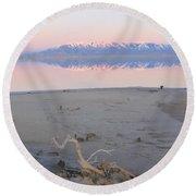 An Island Sunset Round Beach Towel
