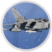 An Italian Air Force Tornado Ids Armed Round Beach Towel