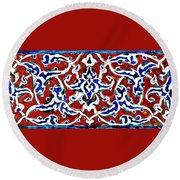 An Iznik Polychrome Pottery Tile, Turkey Circa 1580, By Adam Asar, No 18b Round Beach Towel