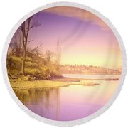 An Okanagan Calm Round Beach Towel