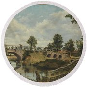 An Old Bridge At Hendon Round Beach Towel