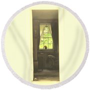 An Open Door Round Beach Towel