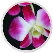 An Orchid Round Beach Towel