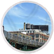 An Urban Landscape Round Beach Towel