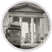 Analog Black And White Photography - Milan - Porta Ticinese Round Beach Towel