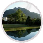 Ananda In The Himalayas, India Round Beach Towel