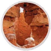 Anasazi Cliff Dwellings #8 Round Beach Towel