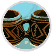 Anasazi Double Mug Round Beach Towel