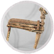 Anasazi Split-twig Figure Round Beach Towel