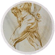 Anatomical Study Round Beach Towel by Rubens