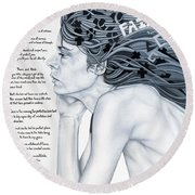 Anatomy Of Pain Round Beach Towel