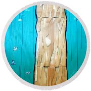 Ancestral Tree Indians To The Sea Round Beach Towel