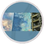 Anchorage Architecture I Round Beach Towel