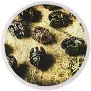 Ancient Battlefield Armour Round Beach Towel