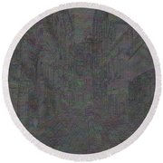 Ancient City Round Beach Towel
