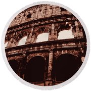 Ancient Colosseum, Rome Round Beach Towel