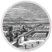 Ancient Corinth, C1894 - To License For Professional Use Visit Granger.com Round Beach Towel