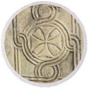 Ancient Cross Pattee Round Beach Towel
